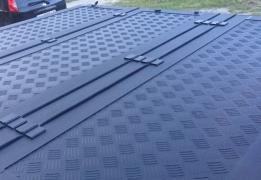 Силовая трехсекционная крышка для пикапа. Крышка кузова пикапа
